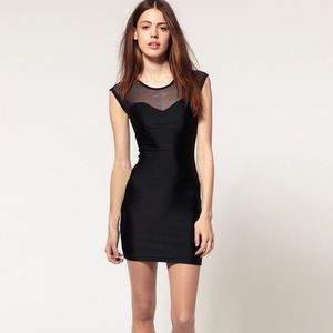 ••american apparel mesh top bodycon dress••